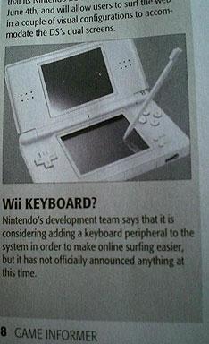 Teclado pra a Wii